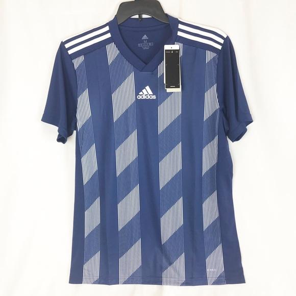 Adidas striped Soccer Jersey Medium NWT